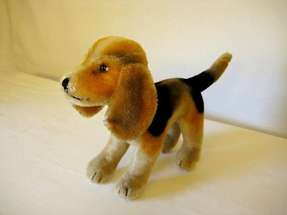 Steiff Vintage Standing Biggie Beagle Rare 1958 To 1961 Only
