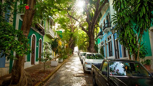 Luch colorful streets of San Juan, the capital of Puerto Rico #kilroy #caribbean #colors #backpacking #street #streetlife