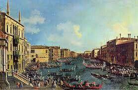 Regata nel Canal Grande; Canaletto; olio su tela; XVIII secolo.