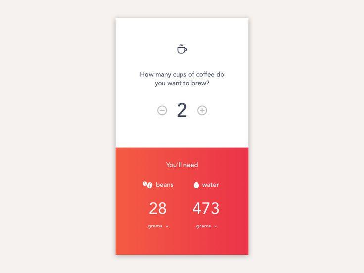 Daily UI #004 – CoffeeCalculator by Matt Shwery