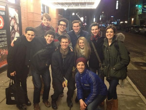 Newsies see Bare the Musical!>> I love that Barret Wilbert Weed is with the Newsies