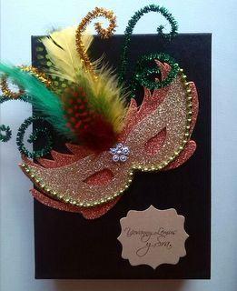 Invitación temática Carnaval http://www.facebook.com/crpentinas