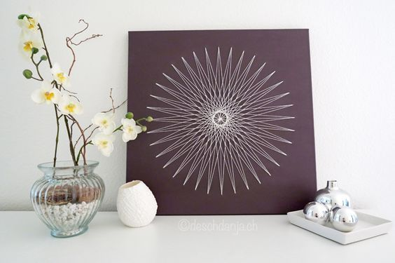 Tutorial: String Art on canvas, www.deschdanja.ch