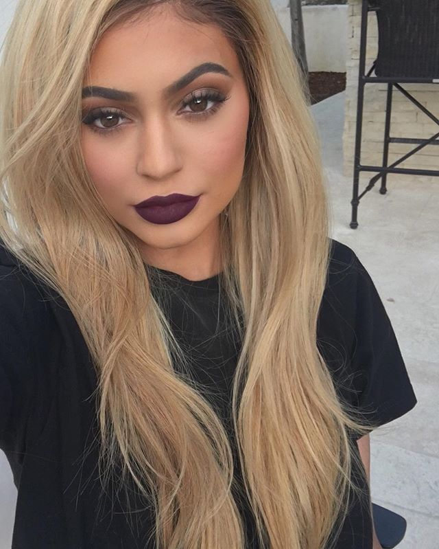Pin for Later: This Is What Kylie's Lip Kit Looks Like on Your Favourite Celebrities Kylie Jenner in Kourt K