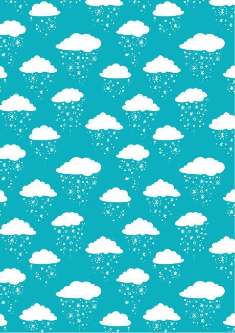 Free printable snow cloud scrapbook paper. Password details on website.