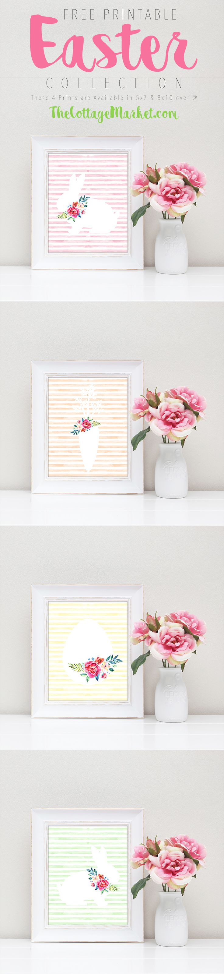 Free Printable Easter Collection... A set of 4 Pastel Prints that will make your walls and shelves smile!