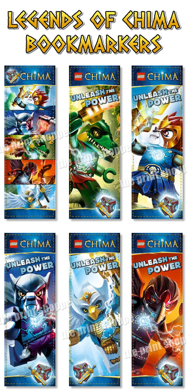 Amazon chima party supplies - Instant Download Legends Of Chima Bookmarkers Chima Birthday Party Favors And Perfect For Goodie Bags