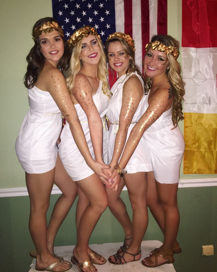 Every girl invited to a toga party knows the feeling. The party starts in an…