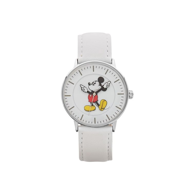 The Original Mickey Collection Watch - Silver + White 36mm