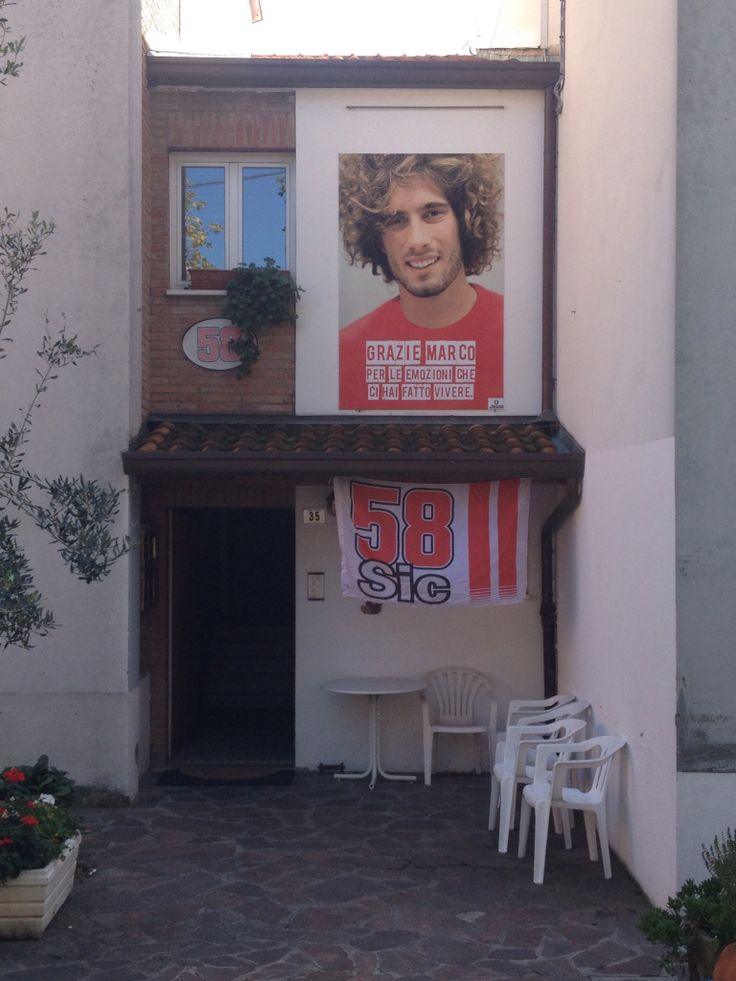 Remembering the late great Marco Simoncelli at his home village of Coriano, Italy.