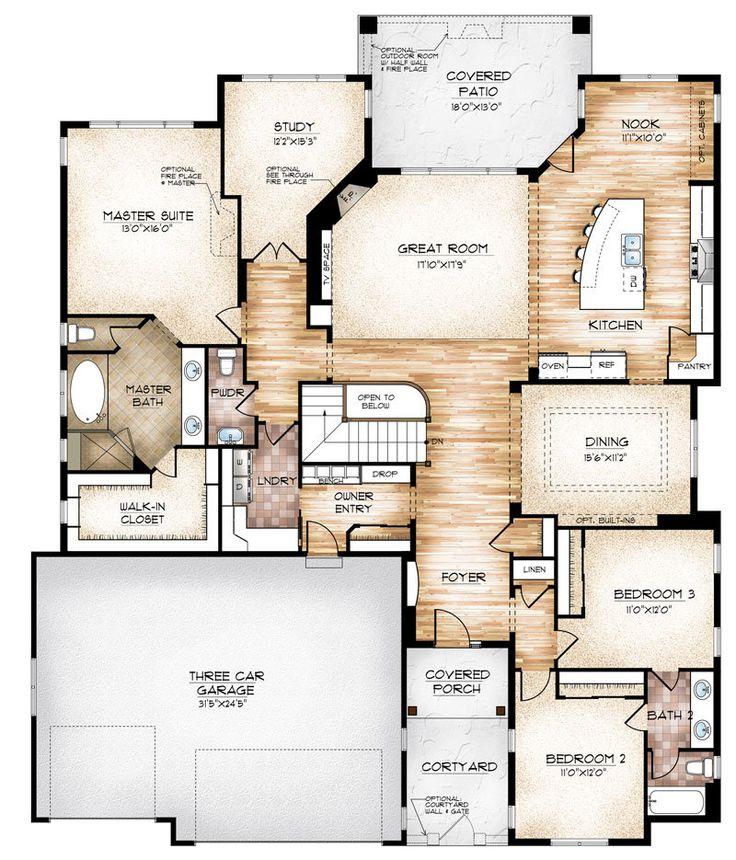 Efficient Kitchen Floor Plans: 25+ Best Ideas About Home Design Plans On Pinterest