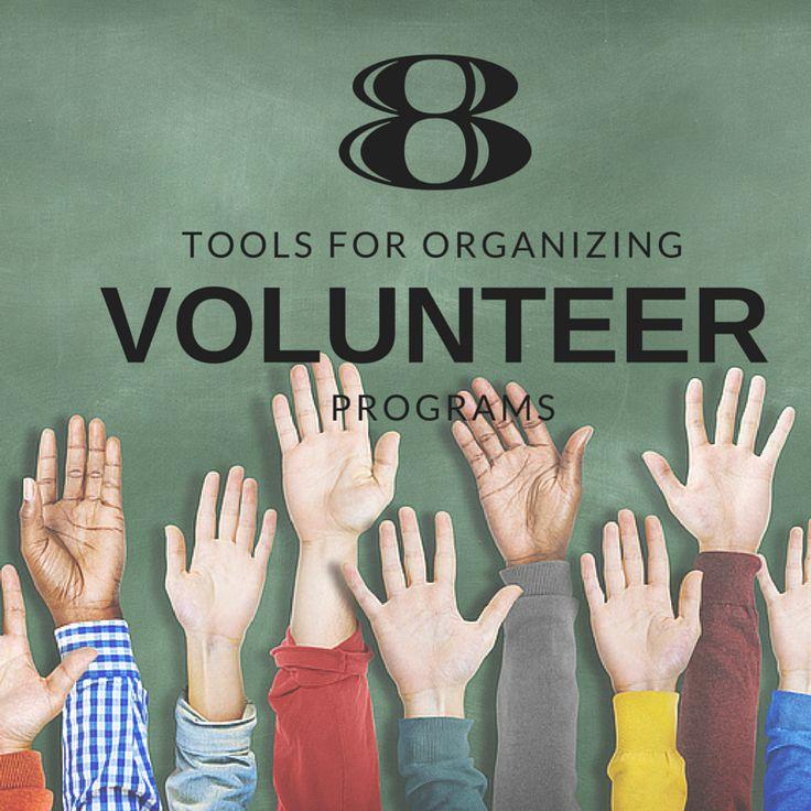 8 tools for organizing volunteer programs