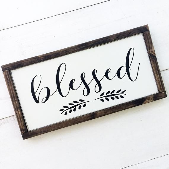 Sign with vinyl lettering wood sign framed sign mini sign stained sign small wood sign Grateful sign