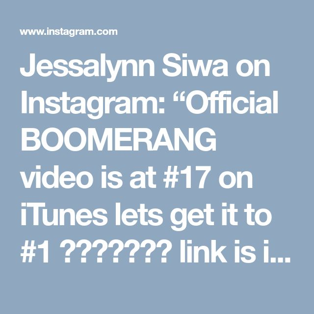 """Jessalynn Siwa on Instagram: """"Official BOOMERANG video is at #17 on iTunes lets get it to #1 🎀🎀🎀🎀🎀🎀🎀 link is in my bio"""" • Instagram"""