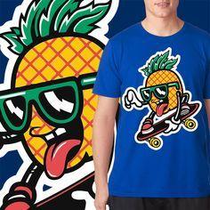 Ananas fruit skater T-shirt design | Tshirt-Factory