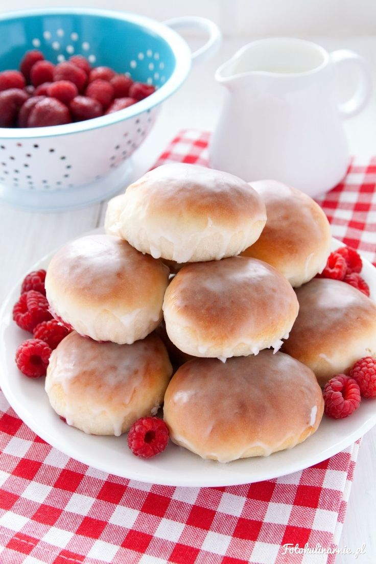 The best recipe for Raspberry Buns - tasty and full of Raspberries.