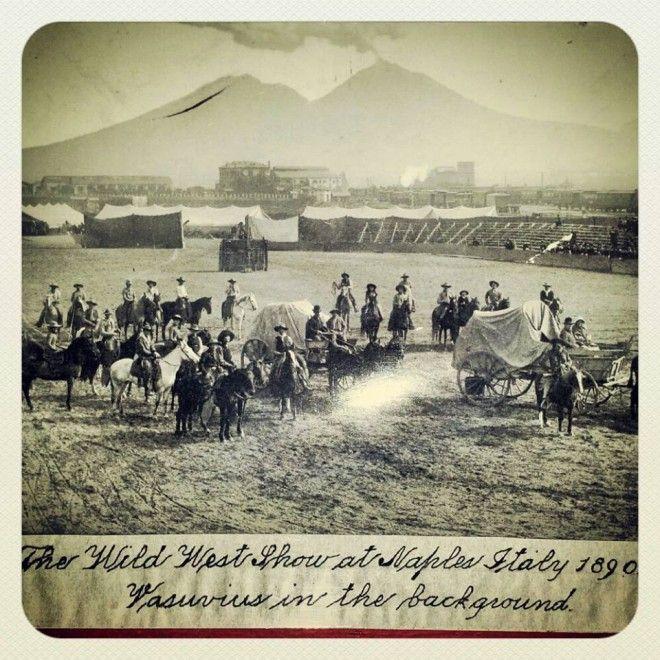 Napoli, immagini vintage: e spunta il Wild West Show