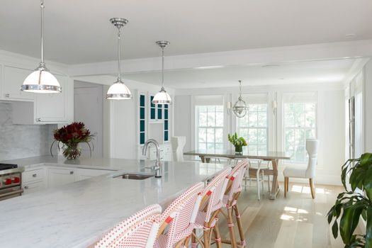 Feng Shui Kitchen with White Interior Designed by Reiko Feng Shui Design