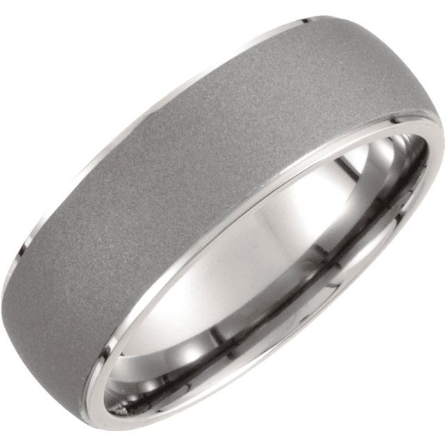 Stuller Titanium Oxidized Center Rounded Band Style: T824:080:P
