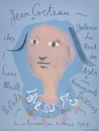 Litografia - Jean Cocteau - Galerie du Pont des Arts, chez Lucie Weill