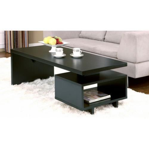 Open Cabinet Coffee Table Furniture End Modern Sofa Tables Decor Accent House Stuff Cabinets