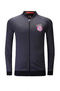 16-17 Cheap FC Bayern Munich Black Football Jacket [H00977]