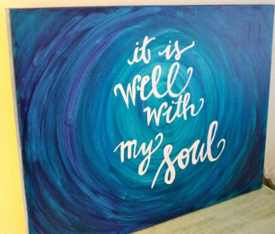 Water Ripples It Is Well With My Soul Calligraphy Art