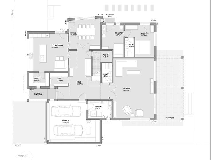 Hauspläne mit garage  9 best LUXHAUS | Hauspläne und Grundrisse images on Pinterest ...