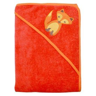 Håndklæde m hætte, rød ræv