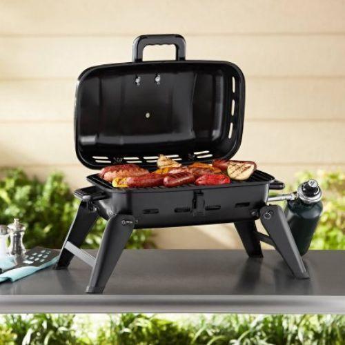 Portable Gas BBQ Grill Backyard Barbecue Outdoor Camping Burner Tabletop   #PortableGasBBQ