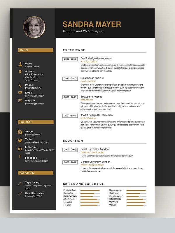 50 Awesome Resume Templates 2016 In 2020 Resume Design Template Resume Design Creative Resume Design Template Free
