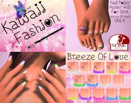 """~^.^~Kawaii """"Breeze Of Love"""" Slink Hand & Feet Applier~^.^~"""