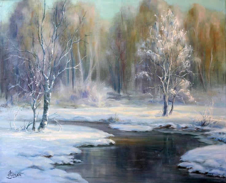 Winter landscape by Lidia Olbrycht