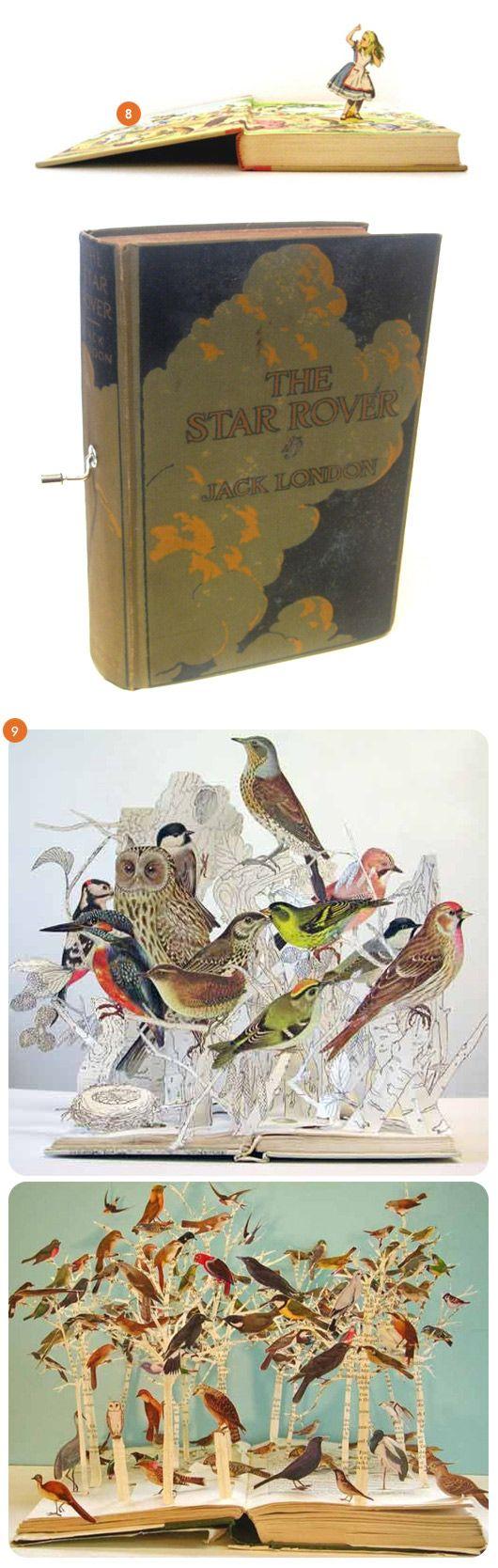 book art-wow!Pop Up Book, Book Art, Book Sculpture, Bookart, 3D Book, Book 3D, Paper Art, Altered Book, Upcycling Book