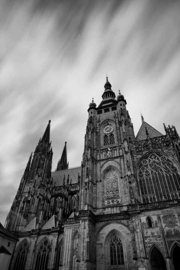 Long exposer Photography  example,, taken on Prague ,,, landscape photography during travling photography activity edited in black and white