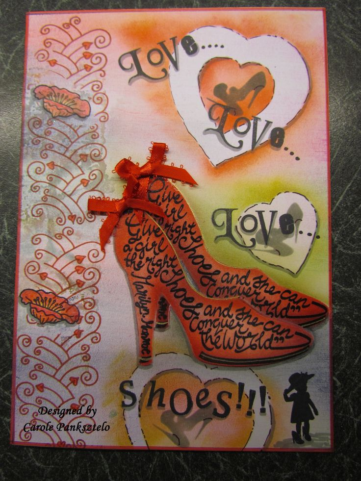 Love...Love...Love....Shoes!! (Using clarity stamps & stencils