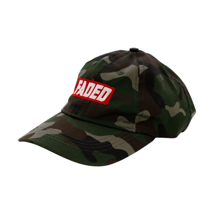City Hunter Usa - Men's Faded Red Block Dad Cap - Camouflage