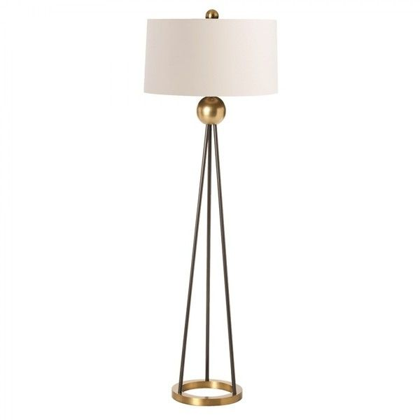 Floor Lamp Metal Black Brass Hã¼Bsch