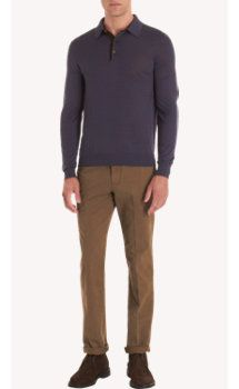 sandro-b.com SVEVO PARMA Sandro.B sweaters Svevo Micro Striped Long Sleeve Polo