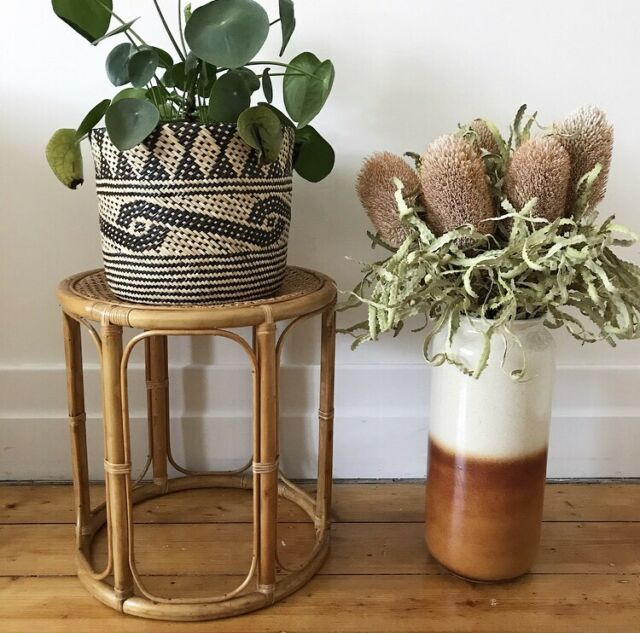 Vintage Cane Rattan Stool Plant Stand Side Table Buffets Side Tables Gumtree Australia Moreland Area Coburg 1213932397 Rattan Stool Side Table Table