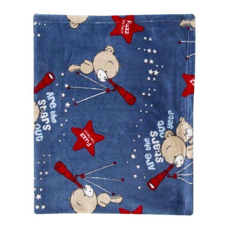 Fuzz the Bear Fleece Blanket