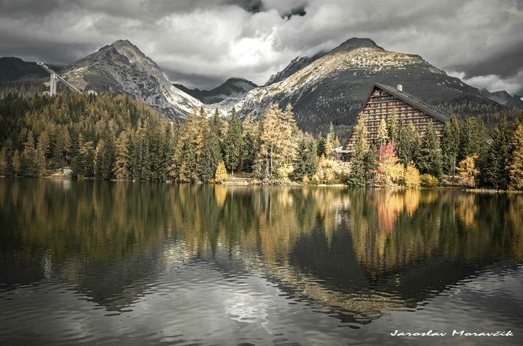Lake Strbske pleso in High Tatras mountains, Slovakia