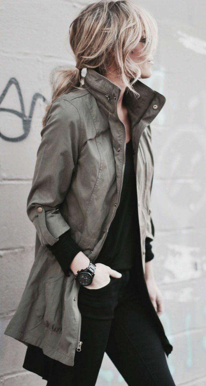 les 25 meilleures id es de la cat gorie veste militaire femme sur pinterest mode de veste. Black Bedroom Furniture Sets. Home Design Ideas