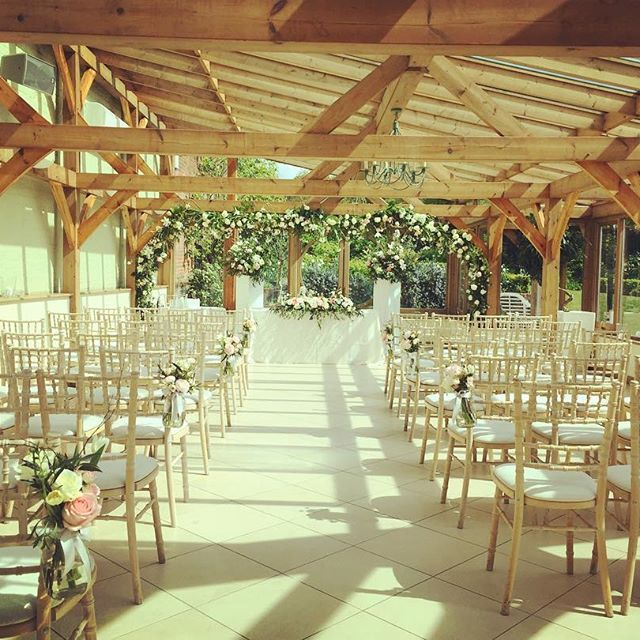 The beautiful light filled Orangery with views overlooking our walled gardens.  For this ceremony @violetsandvelvet worked their magic to create a stunning floral aisle and floral arch over the ceremony area. #gaynespark #weddingflowers #weddinginspiration #springwedding #weddingideas #gaynesparkorangery #realwedding #bride #groom #style #decor #orangery #wedding #weddingvenue #photography #weddingphotography #barnweddings #essex #essexwedding #ceremony #gaynesparkapril #april…