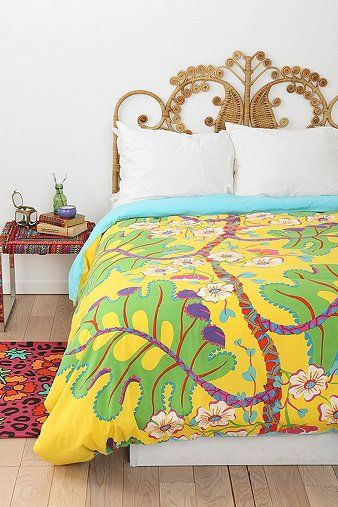 Magical Thinking Plumeria Duvet Cover