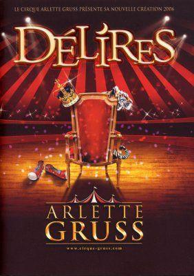 Affiche cirque Arlette Gruss.