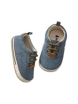 For a little boy one day...crossing fingers//  Chambray sneakers