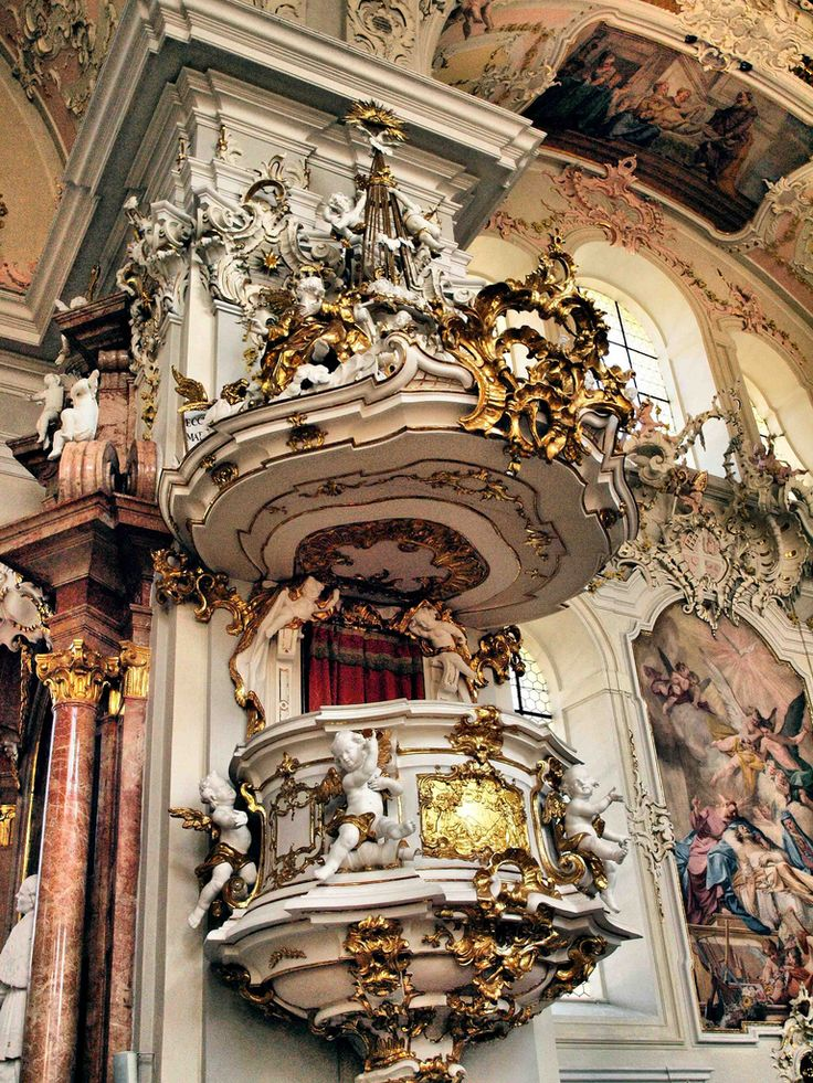 145 best images about marvelous churches on pinterest for Baroque style church