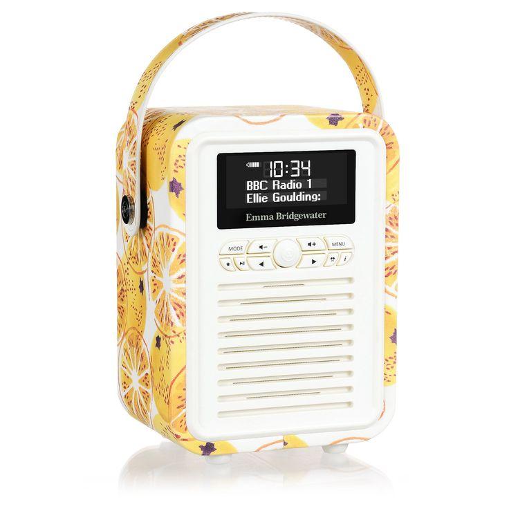 VQ Emma Bridgewater Retro Mini DAB Plus Radio and Bluetooth Speaker - Marmalade: Amazon.co.uk: TV