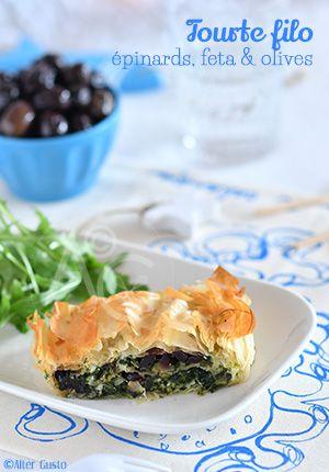 Tourte filo aux épinards, feta & olives Alter Gusto